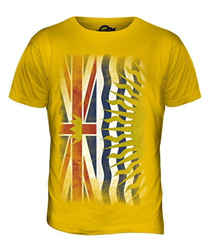 CandyMix British Columbia Verblichen Flagge Herren T Shirt Dunkelgelb