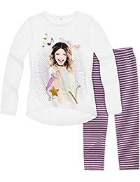 Legging et T-shirt manches longues enfant fille Violetta Blanc/violet 8 à 16ans