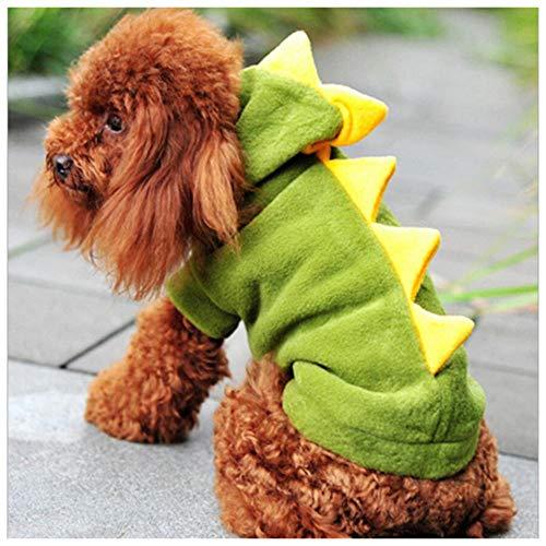 Hunde Den Für Drachen Kostüm - NiQiShangMao Der warme Dinosaurier Kleidung Haustier Hund Anzug Halloween Kostüm Drachen Kleidung Tiere Katze Hoodie