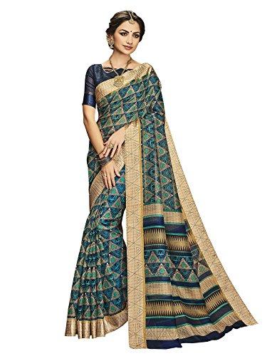 Ethnicjunction Latest Collection of Designer Sarees - Ikkat Prism Printed Kota Silk...