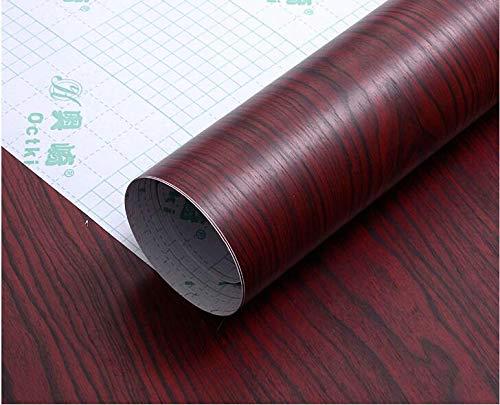 CVANU® Self Adhesive Wood Grain Wallpaper Waterproof Old Furniture Vinyl Stickers Wooden Door Wardrobe Desktop PVC Wall Papers Cv312 12''x24''inch
