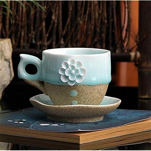 CGHUA Bastone di ceramiche dipinte a mano di fiore set