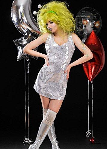 Delights Ladies Cute Alien Silver Space Girl Costume (Medium (UK ()