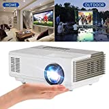 CAIWEI Mini LED Projector Portable Max 1080p Support 1500 Lumen Multimedia LCD Projectors