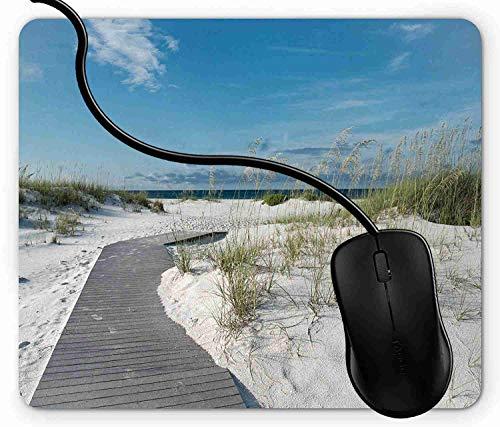 Mauspad Rustikale Strand-Bahn geht zum Wasser in Sommer-Reise Floridas Santa Rosa Island voran Rutschfeste Gummi Basis Mouse pad, Gaming mauspad für Laptop, Computer 1X1418 -
