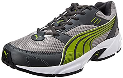 Puma Men's Pluto DP Dark Shadow-Silver-Mac Green Running Shoes - 9 UK/India (43 EU)
