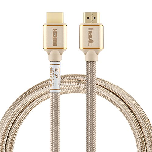 HAVIT High Speed HDMI 2.0 Kabel (4K@60Hz) 6,6ft/2m...