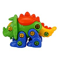 Spritumn Assembly Dinosaur Toys, Kids Take Apart Triceratops Toys DIY Dino Puzzle Push Construction Set Assembly for Boys Girls (Random Color)