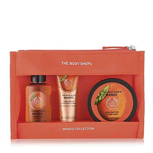 Les Sacs Body Shop fête Beauté -Fraise-Mangue-Shea-Noix de coco/The Body Shop Festive Beauty Bags - Argan Oil-Strawberry-Mango-Shea-Coconut (Mangue)