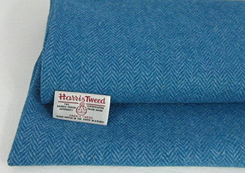 Authentic Harris Tweed Stoff 100% reine Wolle mit Etiketten.. 75cm x 50cm...