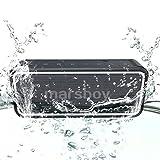 Bluetooth Lautsprecher, Marsboy tragbar Lautsprecher mit verstärktem Bass, Stereo Sound mit 2 Subwoofern, Wasserdicht Speaker, Eingebauter Mikrofon, Smartphone Ladefunktion, NFC