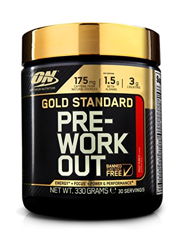 Optimum Nutrition Gold Standard Pre-Workout Pre-Entreno, Ponche de Frutas - 330 g