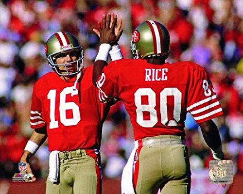 Joe Montana & Jerry Rice 1986 Actiion Photo Print (50,80 x 60,96 cm) (Jerry Rice Joe Montana,)