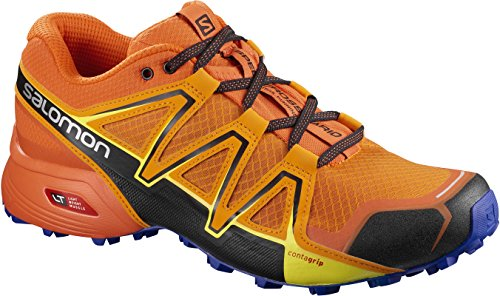 Salomon Speedcross Vario 2, Chaussures de Trail homme - Orange (Bright Marigold/Scarlet Ibis/Surf The Web), 41.1/3 EU (7.5 UK)