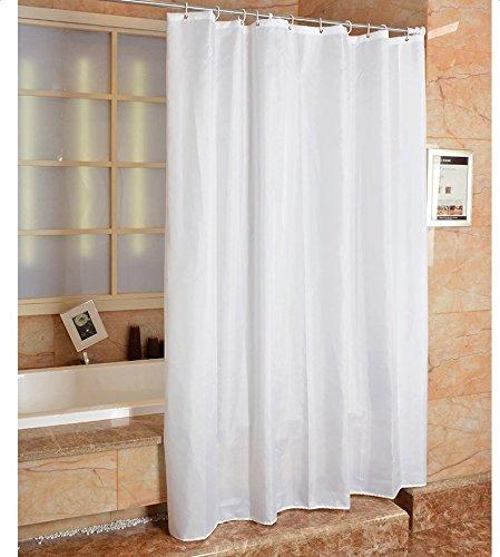 Mytobang 1PCS Badezimmer Duschvorhänge Badezimmer Duschvorhänge Liner Wasserdicht Anti-Bakterien und Mehltau resistenten freien Stoff Duschvorhang, weiß, PEVA (150x180cm)