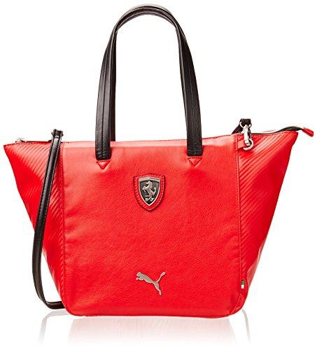 PUMA Umhängetasche Ferrari LS Handbag, Rosso Corsa-Black, 36.5 x 22 x 11.5 x 11.5 , 13.0 Liter, 073147 02