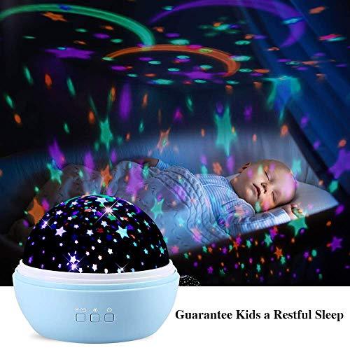 Projektor für Kinder, LED 360 ° drehbarer Ocean Baby Nachtlicht Projektor, Spielzeug für 3-12 jährige Mädchen Jungen, Beste Geburtstagsgeschenke ()