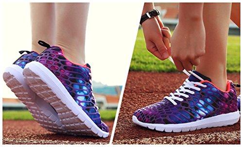 NEWZCERS unisex belle scarpe sportive moda in esecuzione scarpe da ginnastica Lila