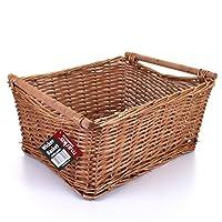 Extra Large Wicker Storage Basket Household Log Fireside Gift Hamper Traditional Natural NEW