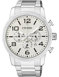 Citizen  AN8050-51A - Reloj de cuarzo para hombre, con correa de acero inoxidable, color plateado