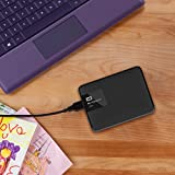 WD My Passport Ultra 1TB Portable External Hard Drive (Black)