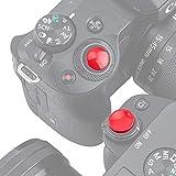 PROfezzion Metall Auslöseknopf (Nicht-verschraubt) für Panasonic Lumix LX100II LX100 ZS200 ZS100 ZS70 ZS60 ZS50 Kamera mit Flachem Auslöseknopf (Konkaver & Konvexe Hellrot Kit)