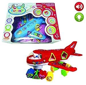 Reig-9763 Avión luz, música,Sonido y Figuras 26x21, Multicolor (9763)