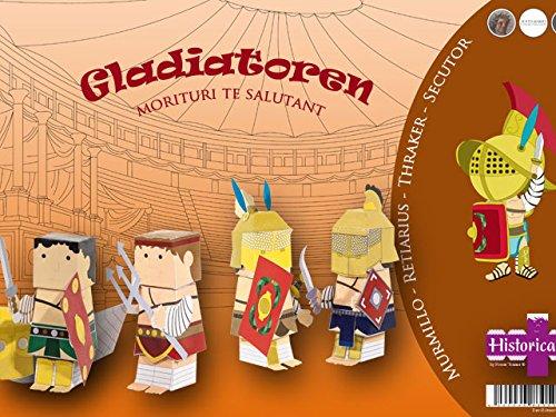 Gladiatoren Bastel-Set - Morituri te salutant - Kindergurtstag Jungen Colosseum ROM - Forum Traiani - Archäologischer Gladiator Bastelbogen - Imperium der Römer