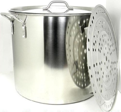 60 Quart Stainless Steel Stock Pot with Rack & Lid by Ballington (60 Quart Stock Pot)