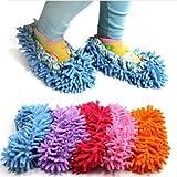 oral - q 1 paar schuhe sauber süß staub mopp pantoffeln bad büro küche (zufällige farbe)