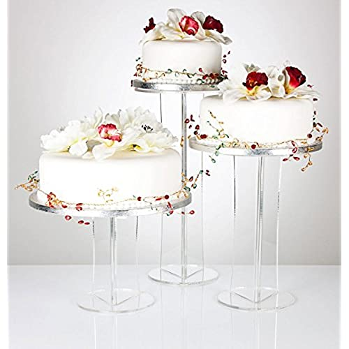 Emily Pillar Clear Acrylic Wedding, Celebration U0026 Party Occasion Cake  Display Stand   Various Sizes