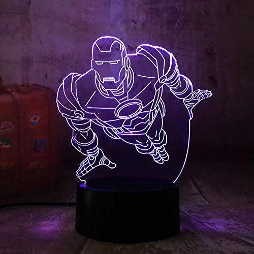 Dianer 7 Farbverlauf Usb Touch Control Nachtlicht Anime Superheld Acryl 3D Led Lampe Kind Kinder Spielzeug Geburtstagsgeschenk Weihnachtsgeschenk Garnieren