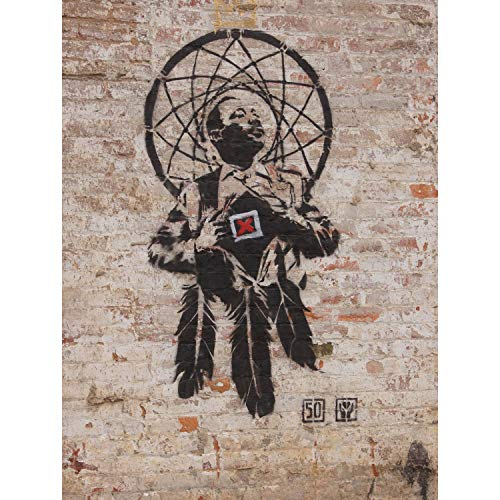 Wee Blue Coo Prints Banksy Style Dr Luther King Junior Graffiti Street Art Art Print Poster Hp4042