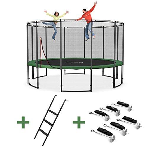 Ampel-24-Deluxe-Outdoor-Trampolin-430-cm-mit-Netz-Leiter-Windsicherung-Gartentrampolin-mit-dem-Max-an-Sicherheit-bis-160-kg