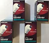 Philips Ace Saver Base B22 7-Watt LED Lamp (Pack of 4, White)
