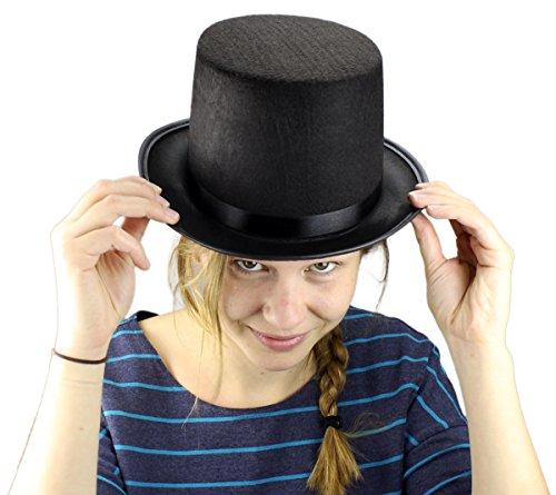 GYD Zylinder Hut Schwarz für Erwachsene Chapeau Zylinderhut