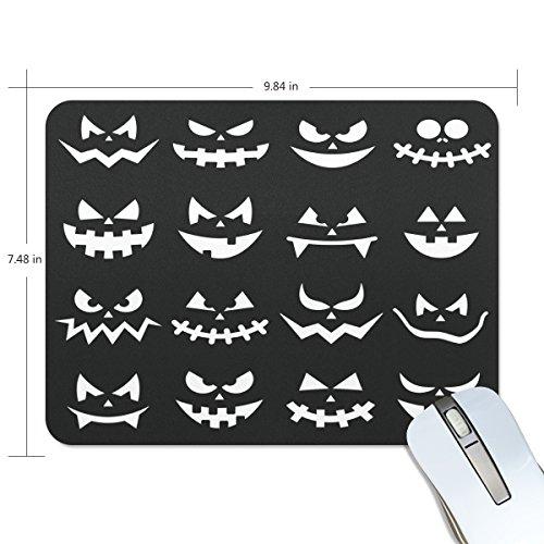 COOSUN Scary Halloween Kürbis-Gesichter Mauspads Anti-Rutsch-Gummi Rückfolie Gaming Mouse Pad Matte M Mehrfarbig