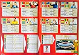 DFB Spielplan WM 2018 FIFA Weltmeisterschaft Russia Fußball Party Fan Fanartikel Poster