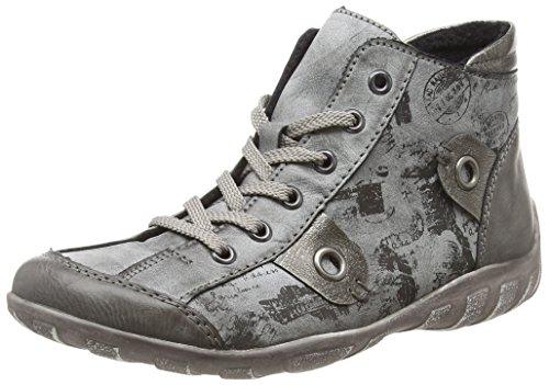Remonte Damen R3492 Hohe Sneaker, Grau (Fumo/Asphalt/Schwarz/Altsilber 45), 37 EU