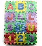 Lanlan Stricknadel Alphabet und Zahlen Schaumstoff Matten kriechen Mats ungiftig für Kinder, EVA Puzzle Foam Mats Baby Kind Kinder Teaching Tools Spielzeug Geschenk
