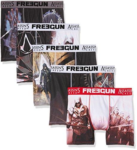 Freegun Assassins Creed Herren Boxershorts Mehrfarbig (Multicolor A1)