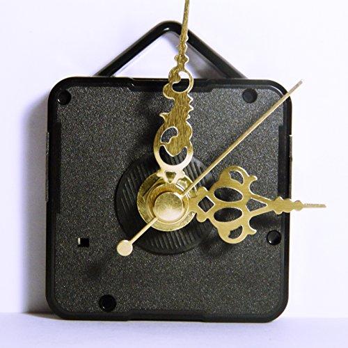 Neuf de remplacement Coutil Mécanisme de mouvement d'horloge à quartz avec métal doré mains – DIY – Fixations – (Long – Longueur totale de la tige 22 mm) 50mm Ornate