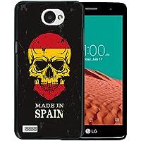 WoowCase Funda LG X150 Bello 2, [LG X150 Bello 2 ] Funda Silicona Gel Flexible Calavera Bandera Made In Spain, Carcasa Case TPU Silicona - Negro
