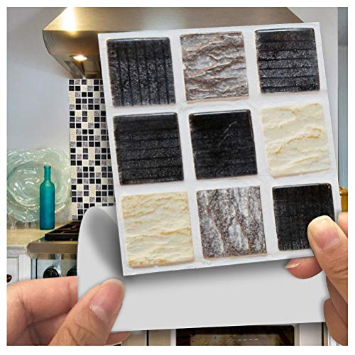 Brick-mosaik-fliesen-böden (APSOONSELL Mosaik Selbstklebendes Wand Fliesen Abziehen und Aufkleben Duett für Küche 3.94