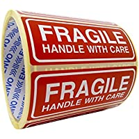 250 Fragiles Autocollants Handle With Care autocollants taille 90x35mm