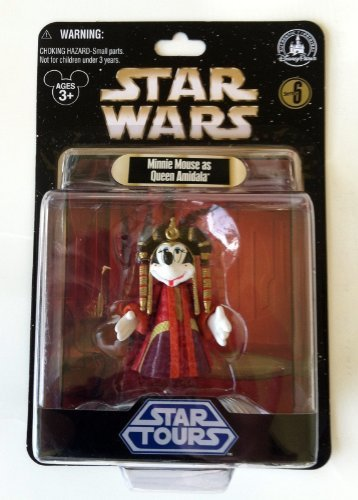 Old School Disney Kostüme (Disney Star Wars Star Tours Series 6 Minnie Mouse as Queen Amidala by)