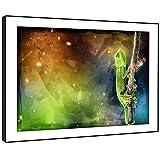 BBFA178C arte enmarcado cuadro de la pared de impresión - (camaleón Rana Trippy Espacio)...