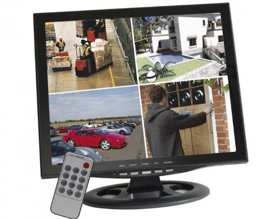 Video-multiplexer (HaWoTEC 17' 42cm 4 Kanal Quadbild Multiplexer CCTV TFT LCD Monitor für Überwachung Video Überwachungsmonitor)