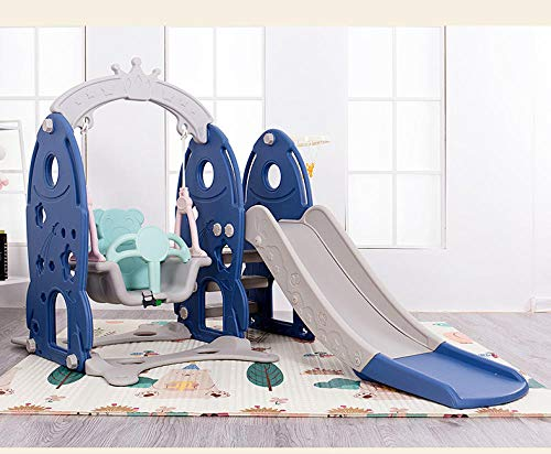 Dtcat Kids Garden Playground,3-in-1-Multifunktionsrutsche,Heimkinderrutschenspielzeug @ Blue,Garden Play Activity Gym für Kleinkinder