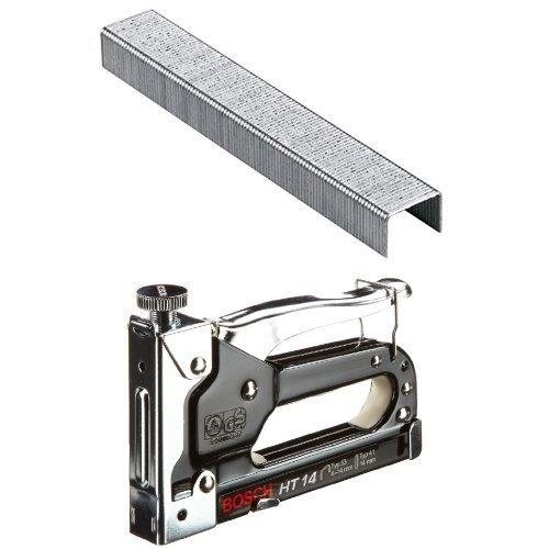 Bosch 2 609 255 820 - Grapa tipo 53 (pack de 1000) + Bosch 0 603 038 001  - Grapadora manual HT 14 - - - 0603038001 (pack de 1)